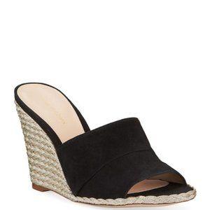 Stuart Weitzman Slidewalk Suede Wedge Sandals